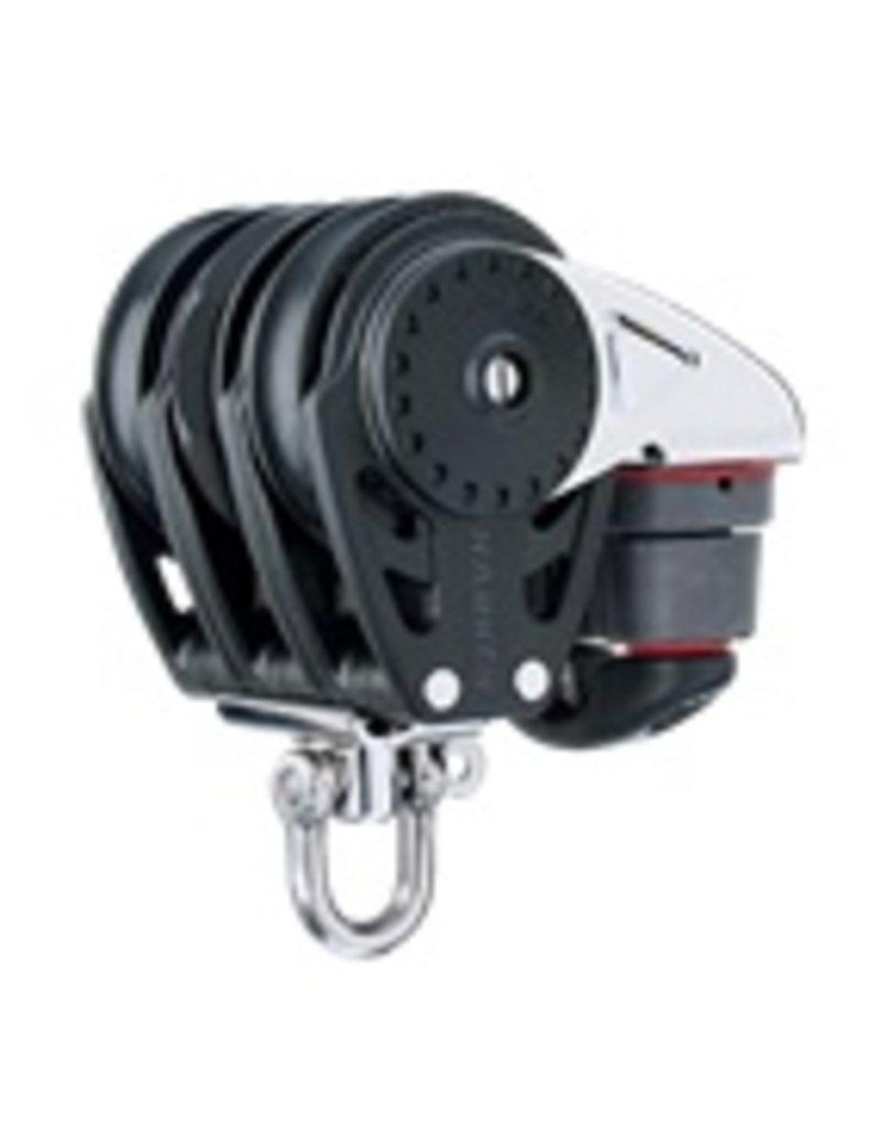 Harken 75mm Triple Carbo Ratchamatic Block w/Cam Cleat