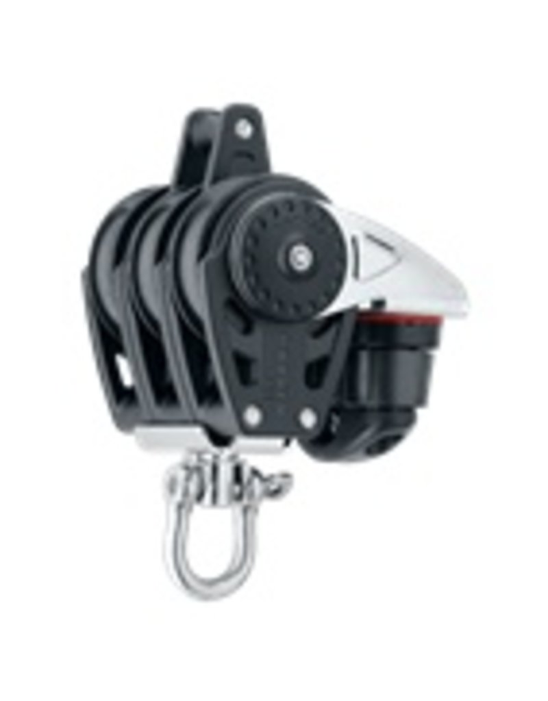 Harken 40mm Triple Carbo Block w/Cam Cleat and Becket
