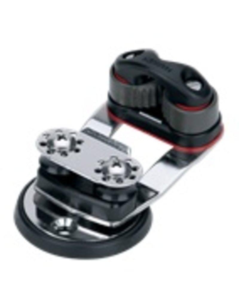 Harken Micro Swivel Cam Base w/16mm Sheaves