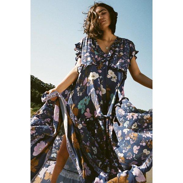 Spell Designs Spell Wild Bloom Gown, Navy