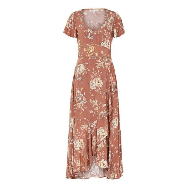 Spell Designs Spell Rosa Garden Play Dress Camel