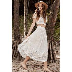 Spell Designs Spell Abigail Lace Tie Side Skirt