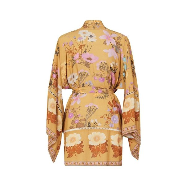 Spell Designs Spell Wild Bloom Short Robe Mustard