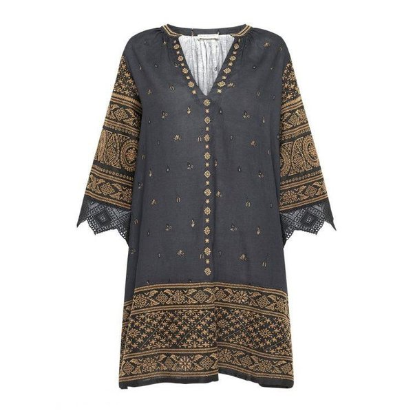 Spell Designs Spell Muwala Embroidered Tunic Shadow
