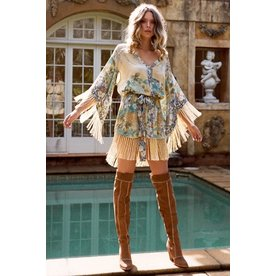 Spell Designs Spell Willow Tasseled Mini Dress