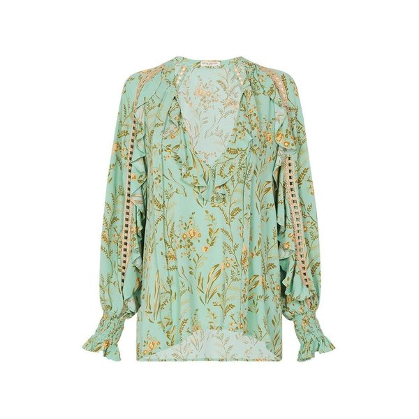 Spell Designs Spell Maisie Blouse Vint Turquoise