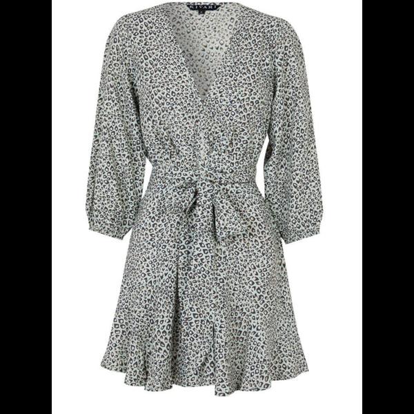 Kivari Kivari Wrap Mini Dress Leopard