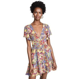 Auguste Auguste Magnolia Violet Mini Dress