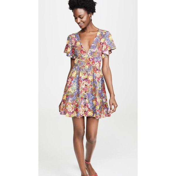 Auguste Auguste Magnolia Violet Mini Dress Purple