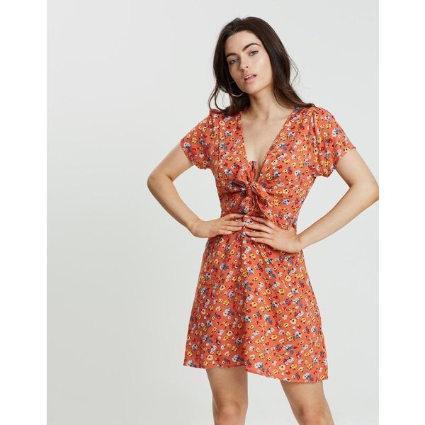 Auguste Auguste Agnes Fleur Mini Dress Rust