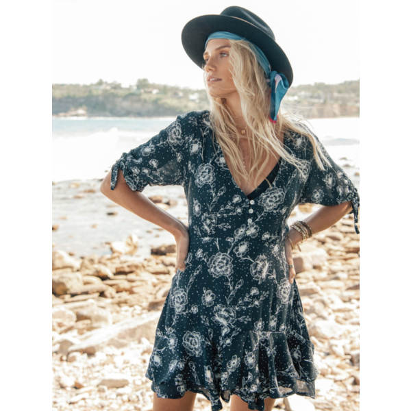 Kivari Kivari Zenyara Floral Mini Dress Navy