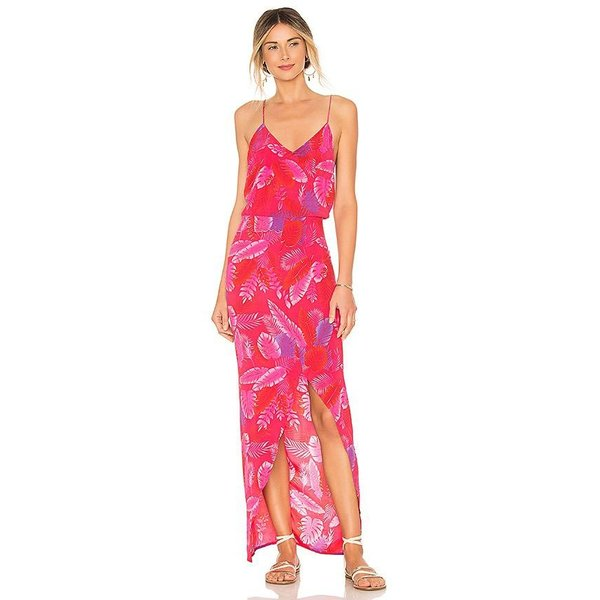 Acacia Acacia Harem Jumpsuit Silk Psychedelic Leaf