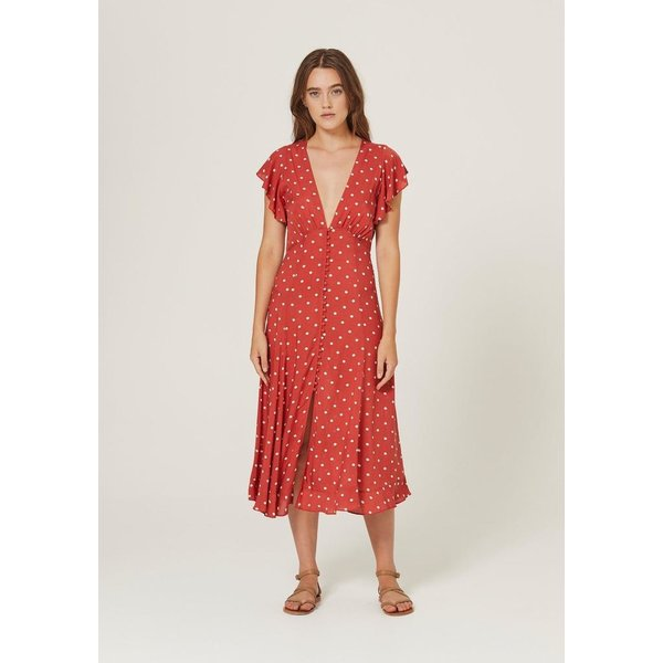Auguste Auguste Polly Sunday Midi Dress Red