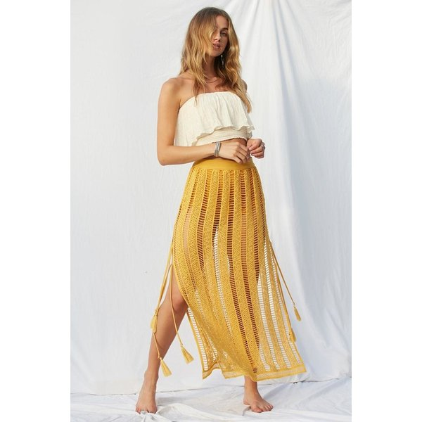 Jens Pirate Booty Jens Duomo Maxi Skirt Lined Oro