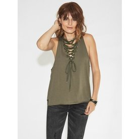 Oneteaspoon Oneteaspoon Radar Lace Up Tank