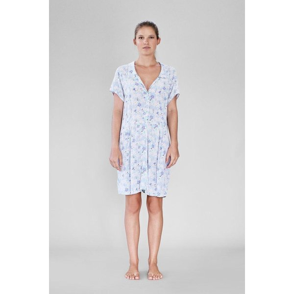 Acacia 50% Cotton, 50% Silk makes for an airy playful button up dress