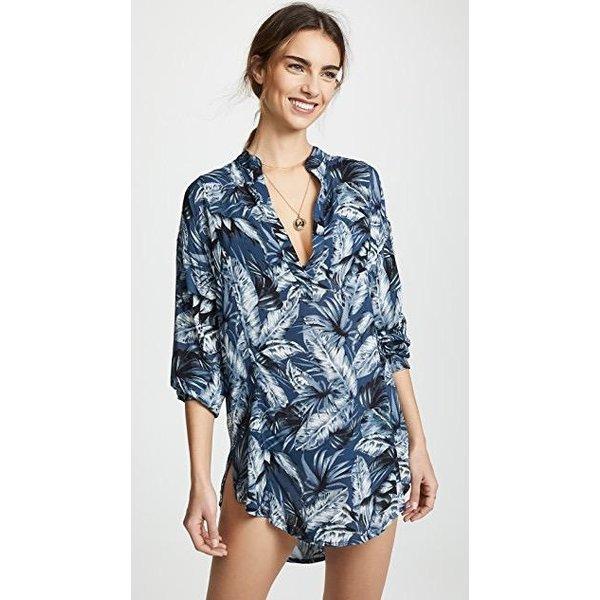 Mikoh Swimwear Mikoh Cannes L/S V Neck Tunic Cover Up