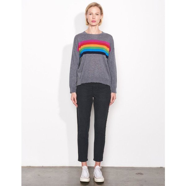 Sundry Sundry Center Color Stripe Crew