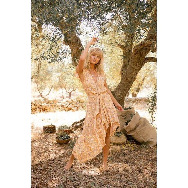 Kivari Kivari Freya Tie Up Midi Dress
