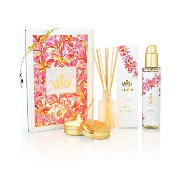 Malie Organics Includes a reed diffuser, linen &room spray, & a soy candle.