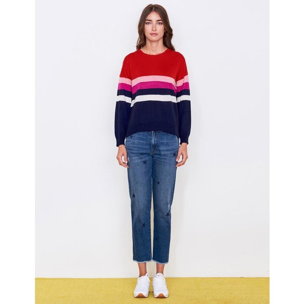 Sundry Sundry Stripes Crew Sweater