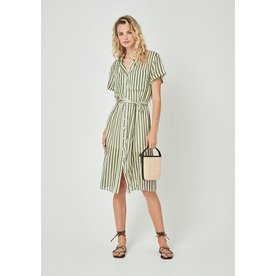 Auguste Auguste Fleet Waisted Pocket Shirt Midi Dress