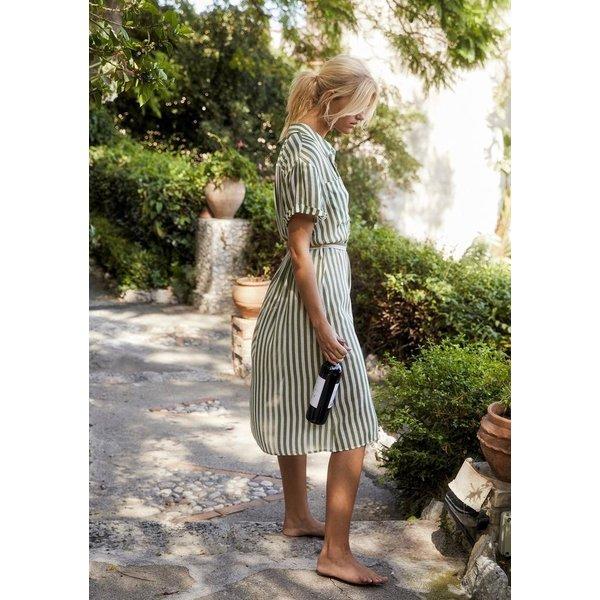 Auguste Auguste Fleet Waisted Pocket Shirt Midi Dress