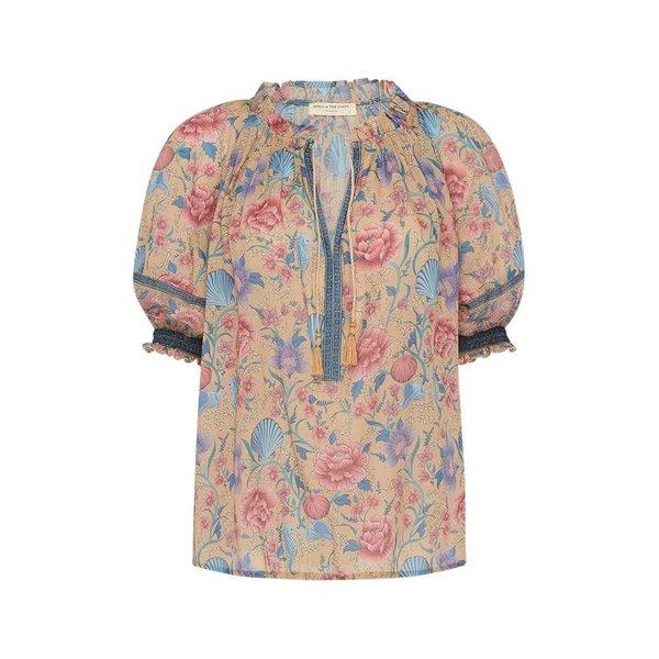 Spell Designs Spell Seashell Short Sleeve Blouse, Opal