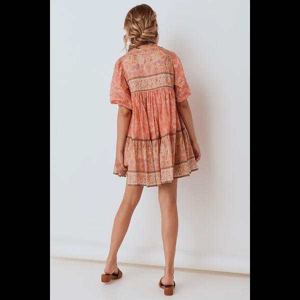 Spell Designs Spell Seashell Boho Mini Dress, Coral