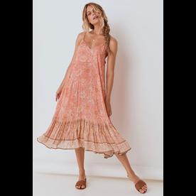 Spell Designs Spell Seashell Strappy Midi Dress