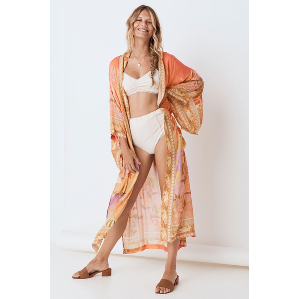 Spell Designs Spell Madison Maxi Robe, Coral