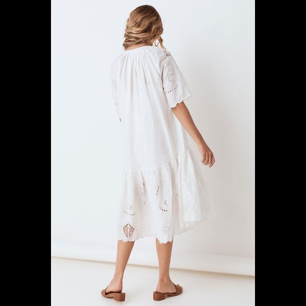 Spell Designs Spell Lala Linen House Dress, White