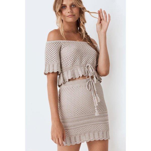 Spell Designs Spell Atlantic Crochet Mini Skirt