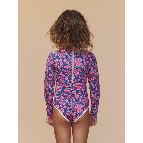 Acacia Acacia Honey Ehukai Long Sleeve One Piece Swimsuit for Kids