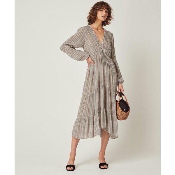 Auguste Auguste Maze Helena Sleeved Midi Dress
