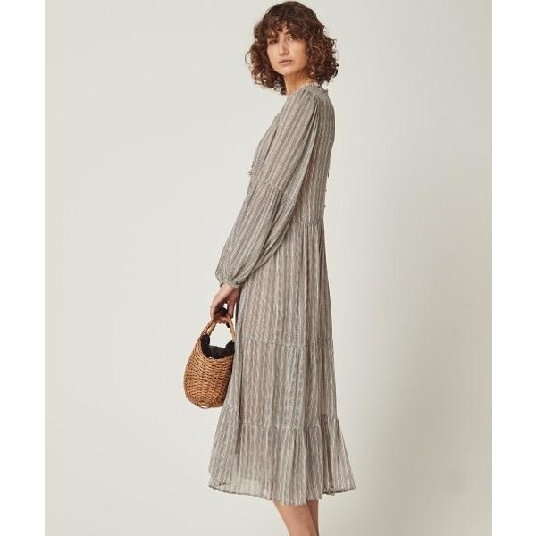 Auguste Auguste Maze Helena Sleeved Midi Dress