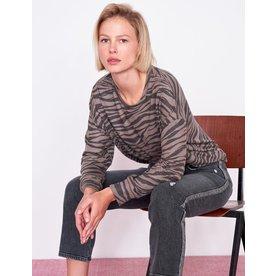 Sundry Sundry Zebra Drapey Sweater