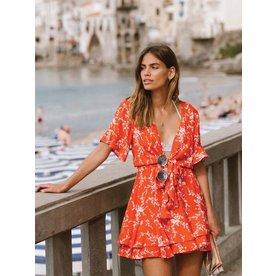 Kivari Kivari Oasis Tie Front Mini Dress