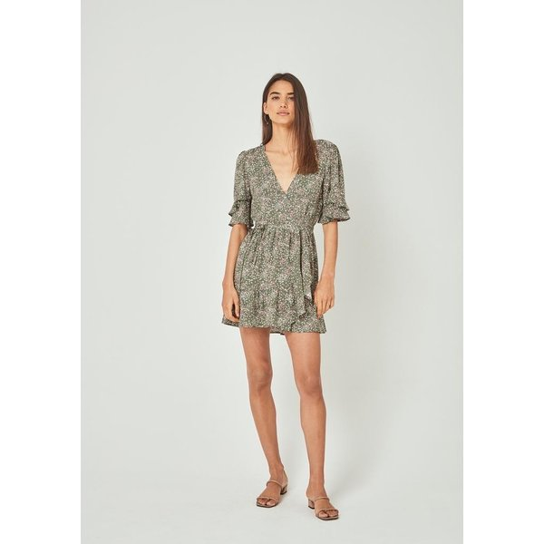 Auguste Auguste Gemima Goldie Wrap Mini Dress