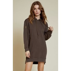 Nation Nation Paz Seamed Hoodie Dress