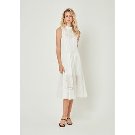 Auguste Auguste Margot Wren High Neck Midi Dress