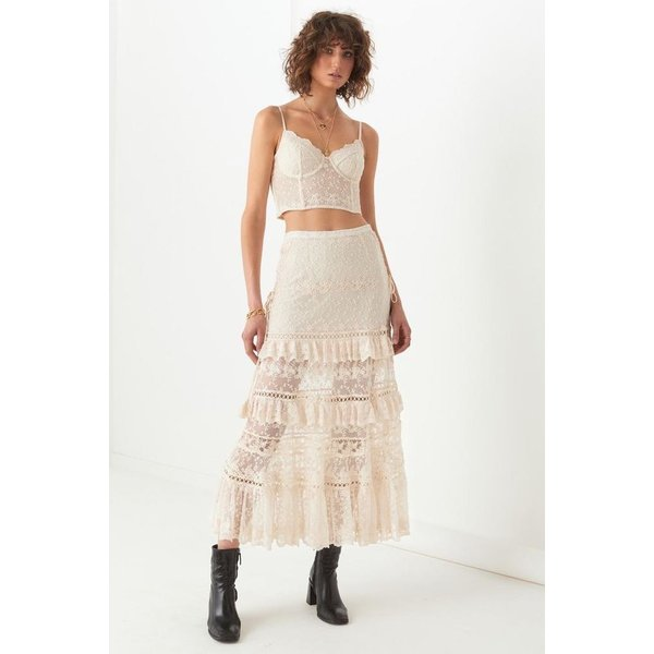 Spell Designs Spell Le Gauze Lace Tiered Skirt