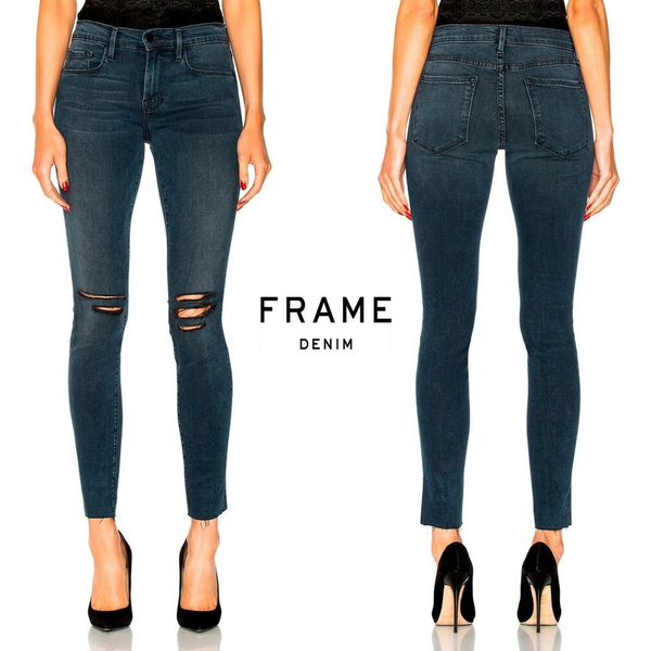 Frame Frame Le Skinny De Jeanne Raw Edge
