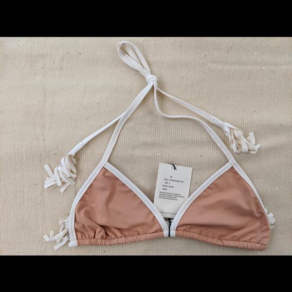 Acacia The classic halter top bikini with white edges