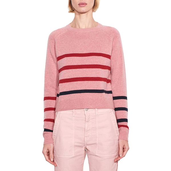 Sundry Sundry Heart + Star Stripe Crew Sweater