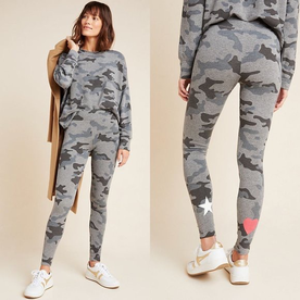 Sundry Sundry Star+Heart Camo Pants