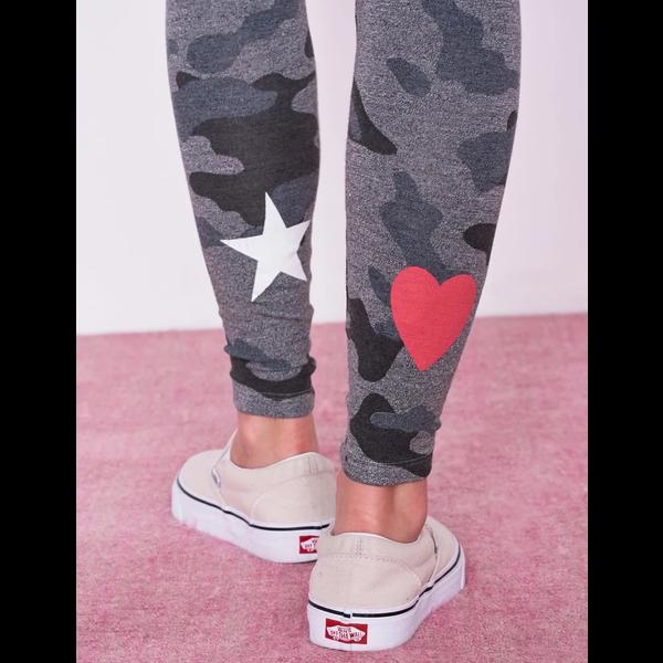 Sundry Sundry Star+Heart Camo Pants
