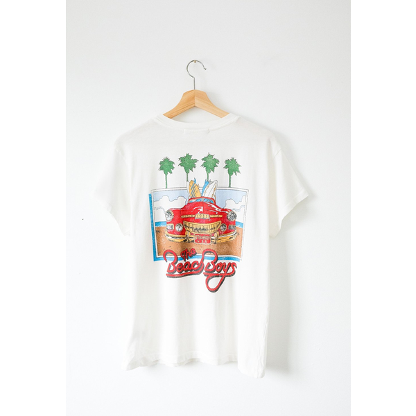 Daydreamer Daydreamer The Beach Boys 1983 Tour Rolled Sleeve Weekend Tee