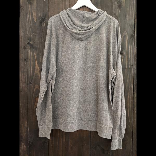 Lakeshirts Mens Tri-blend Slick Valve Hooded Long Sleeve T-shirt