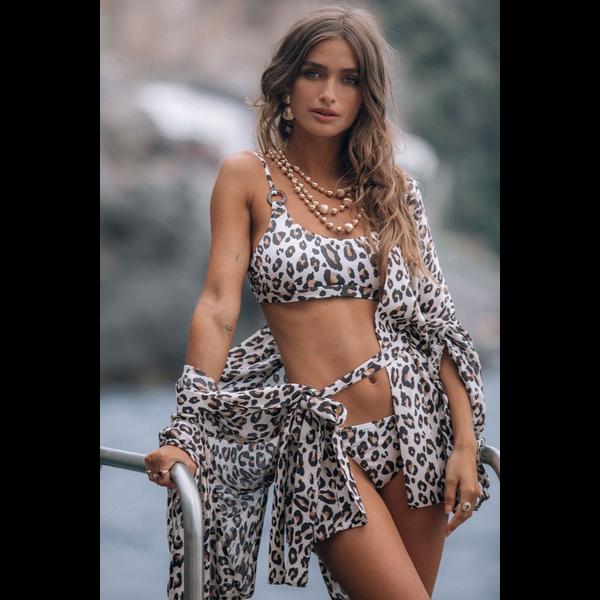 Spell Designs Spell Bodhi Leopard Swim Crop Top